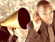 Communicating Sustainability shouting through megaphone