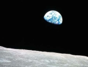 The picture of Earth taken from the Moon